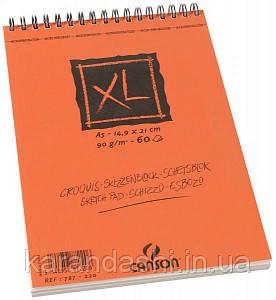 Альбом Сanson Сroquis XL, А5, 90g, 60л на спирали