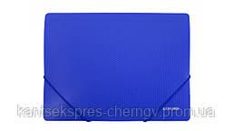 Папка А4 с резинкой пластик Economix Е31601 в ассорт. Синий