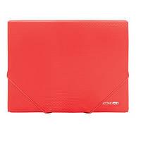 Папка А4 с резинкой пластик Economix Е31601 в ассорт. Красный