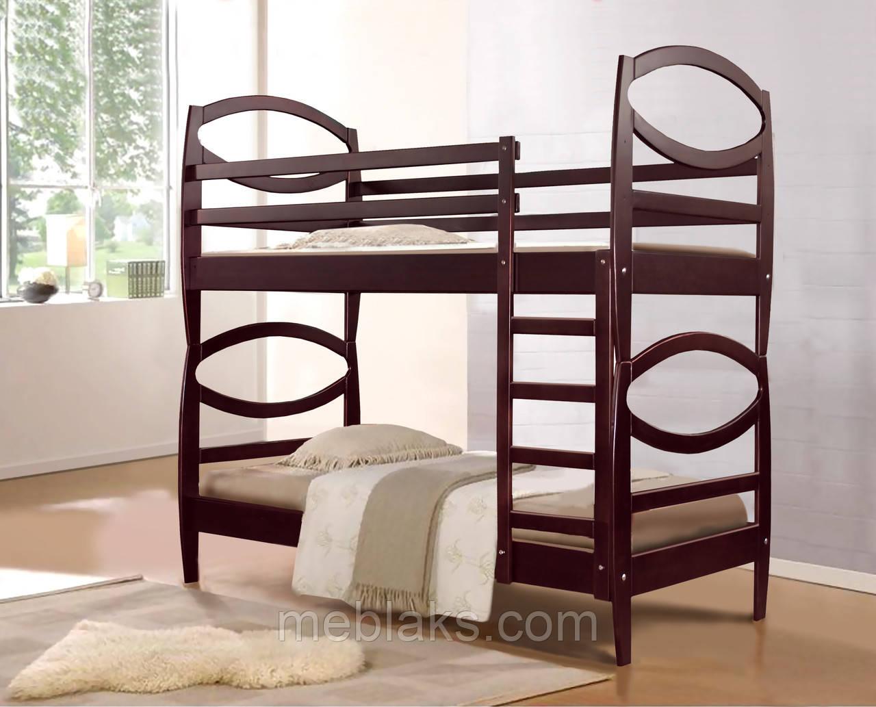 """Кровать двухъярусная """"Виктория""""  в спальню (серия Елегант)  Микс Мебель"""