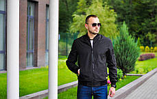 Мужская куртка бомбер Baterson черная, фото 2