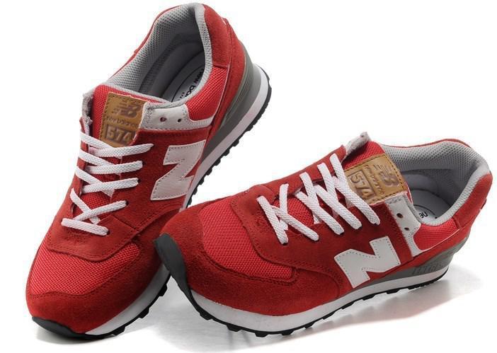Кроссовки New Balance 574 Red White Красные Женские Реплика — в ... 7751fa31e1a87