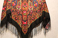 Платок женский павлопосадский(шерсть+вискоза), фото 1