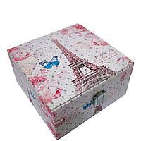 "Шкатулка для украшений ""Fantastic"" 6 Рисунков(Eiffel Tower)"