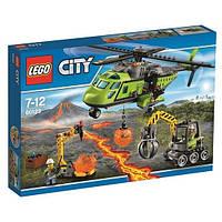 Конструктор Лего 60123 LEGO Грузовой вертолёт исследователей вулканов