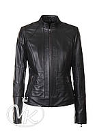 Кожаная куртка черного цвета классика, фото 1