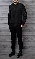 Мужская куртка бомбер Baterson черная, фото 3