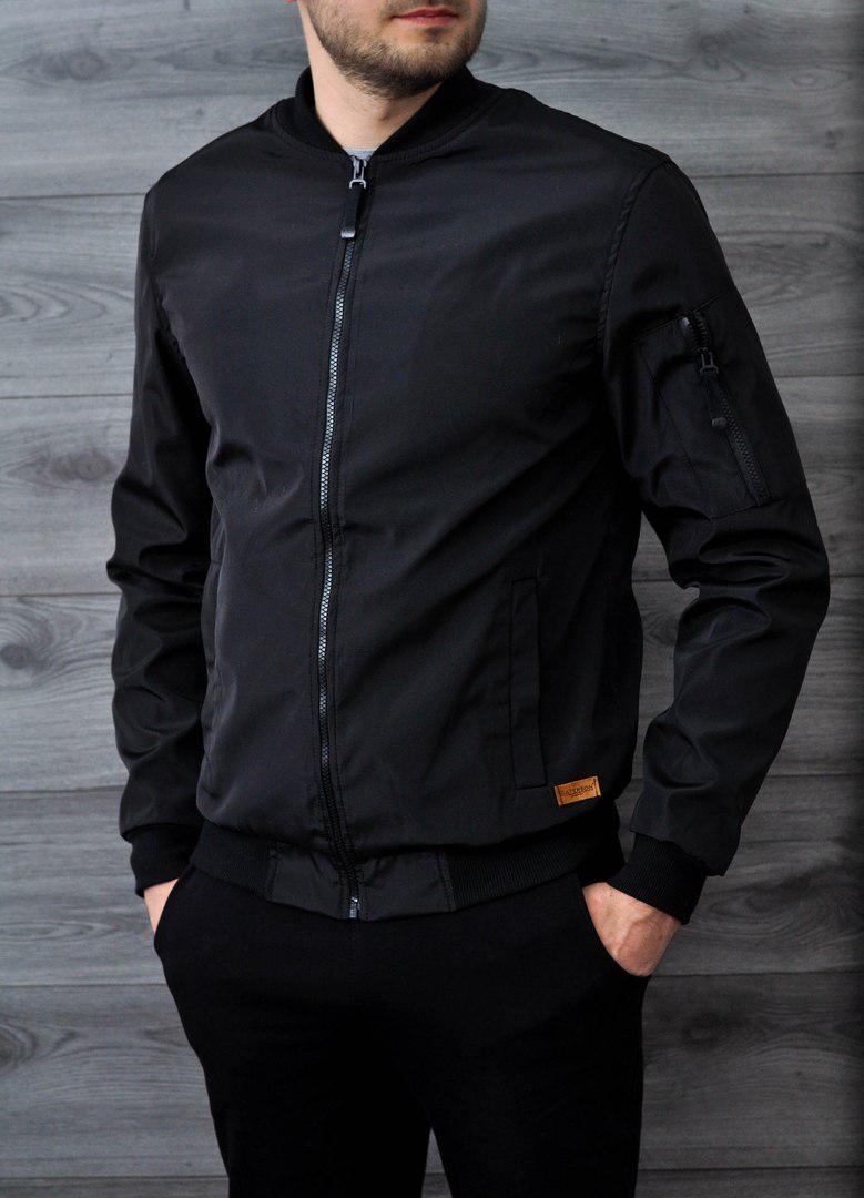 Мужская куртка бомбер Baterson черная