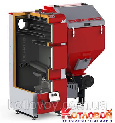 Твердотопливный котёл с автоматической подачей топлива Defro Komfort Eko Duo Uni R  , фото 2