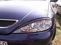 Реснички на передние фары для Renault Megane 1 1999-2003 послерест.