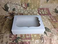 Коробка под зефир / *h=6* / 250х170х60 мм / Белая / окно-обычн, фото 1