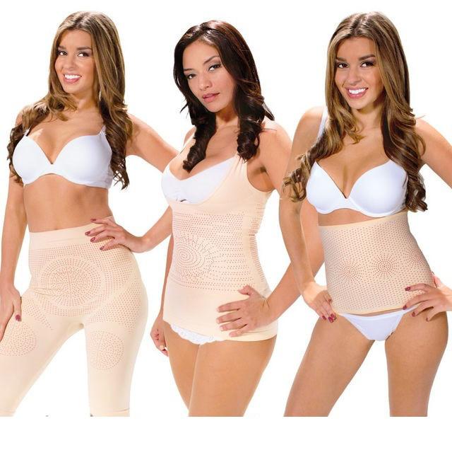 Корректирующее белье  Fir Slim - утягивающие шорты + майка + пояс для похудения (размер ХL)