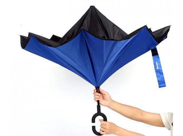 """Up-brella - зонт """"наоборот"""" (кислотный оранжевый) - фото 5"""