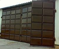 Промышленные распашные филенчатые ворота