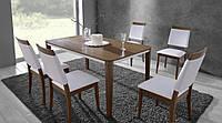 """Комплект обеденный """"Риана"""" из натурального дерева (стол + 4 стульев)"""