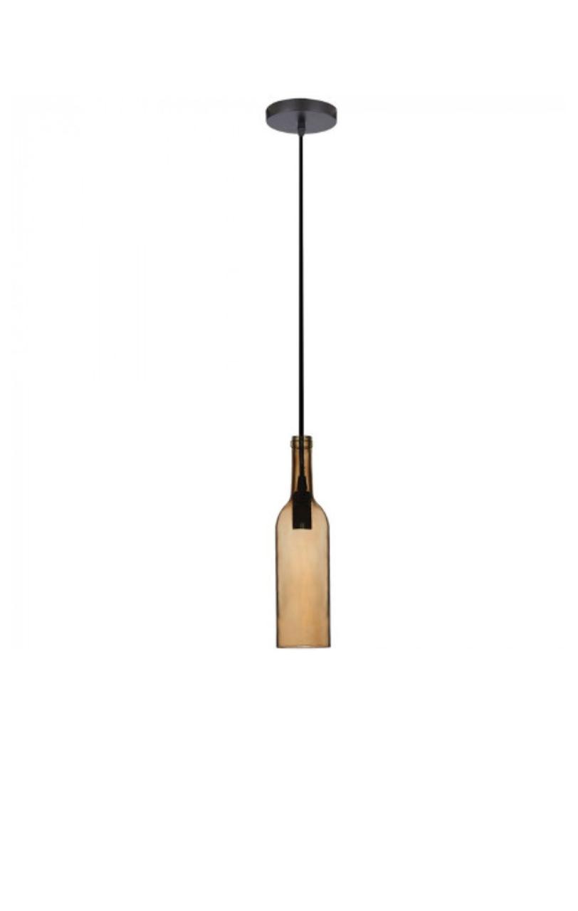 Светильник подвесной Стеклянная Бутылка Цвет-Коричневый