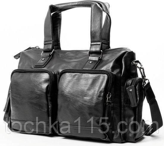 Кожаная мужская сумка, дорожная мужская сумка, городская сумка, прочная сумка, сумка для документов