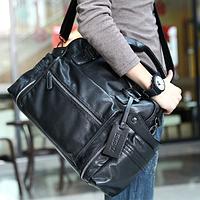 Кожаная мужская сумка, дорожная мужская сумка, городская сумка, прочная сумка, сумка для документов, фото 1
