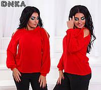 Женская блуза открытые плечи красный, черный, белый, зеленый, фото 1