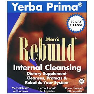 Yerba Prima, внутренняя очистка мужчин, 3 части программы, 3 бутылки