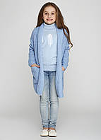 Кардиган для девочек голубой, фото 1