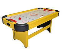 Игровой стол - Аэрохоккей (183x97x81см) Ice Power 180 желтый, настольный хоккей