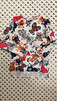 Детская стильная блузка для девочки Игрушки 140-164