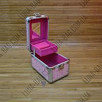 Стильный металлический сундук 10 Цветов Сердечки Розовый.