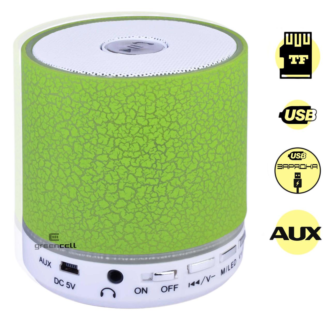 Портативная колонка A8 Bluetooth LED подсветка