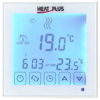 Сенсорный программируемый терморегулятор Heat Plus BHT 323GB White, фото 1