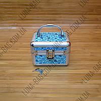Стильный сундук для бижутерии 9 Цветов Сердечки Голубой