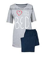 Піжама Muzzy жіноча з бриджами I Love my bed 4XL 257