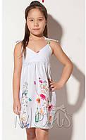 """Платье для девочки белое """"Цветы"""""""