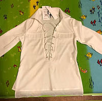 Рубашка со шнуровкой белая Нал
