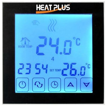 Сенсорный программируемый терморегулятор Heat Plus BHT 323GB Black