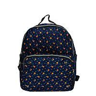 Джинсовый рюкзак с цветочным принтом 5 Рисунков (Оранжевые цветы)
