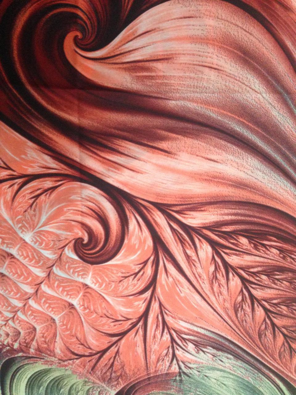 Палантин женский  демисезонный цвет терракотовый