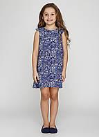 Платье летнее для девочек синее