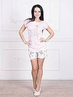 """Пижама женская с шортами и футболкой из коллекции """"Мардмуазель"""" (арт.596)"""