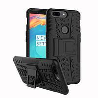 Ударопрочный чехол с функцией подставки Shield для OnePlus 5T черный