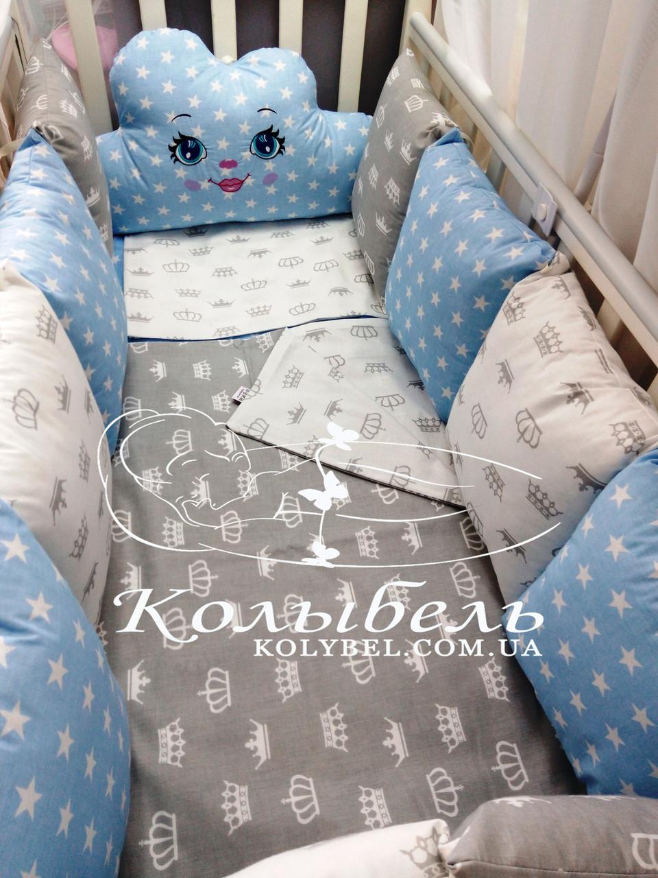 Наборы в кроватку для новорожденных из натуральных тканей