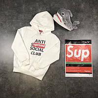 Худи Supreme x Assc 17 White