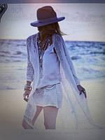 Туника пляжная женская белая Нал