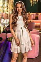 Платье женское коктейльное верх кружевной, фото 1