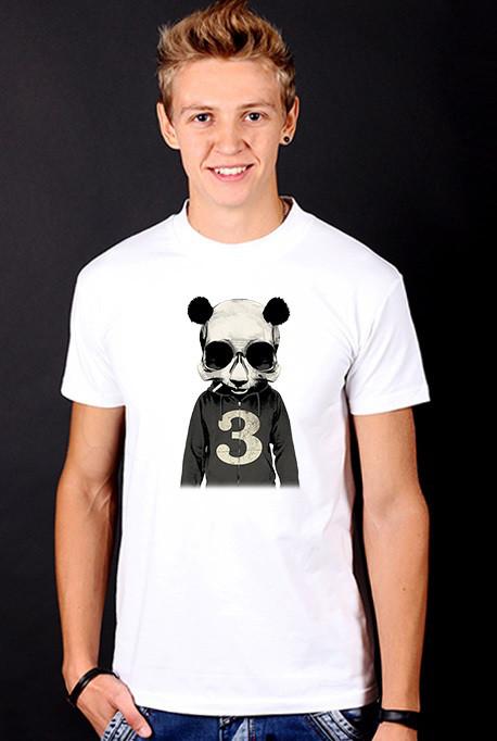 Белая футболка мужская с Пандойс принтом спортивная хлопок