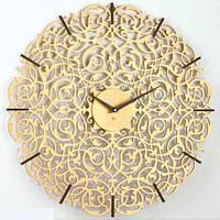 """Дизайнерские часы """"Икониум"""" (33 см) золотые [МДФ, Открытые]"""