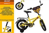 "Велосипед 2-х колес 12"" 181247 (1шт) со звонком, зеркалом,без ручного тормоза"