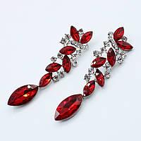 """Серьги-люстры """"Анжелика"""" декорированы камнями и кристаллами"""