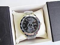 Часы  наручные женские часы серебро+черный циферблат