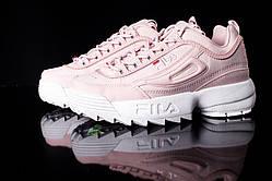 Модные розовые женские кроссовки Fila